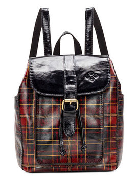 Aberdeen Tartan Plaid Leather Backpack by Patricia Nash