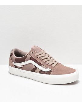 Vans Old Skool Pro Desert Camo Skate Shoes by Vans