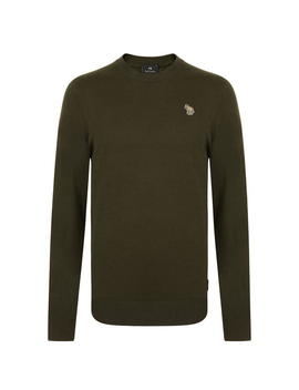 Zebra Logo Crew Neck Jumper by Ps By Paul Smith