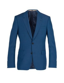 Single Breasted Wool Blend Blazer by Alexander Mc Queen