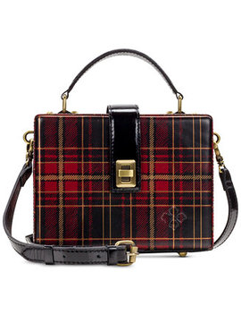 Tartan Plaid Tauria Box Satchel by Patricia Nash