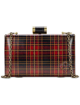 Alora Tartan Plaid Leather Clutch by Patricia Nash