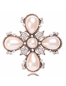 Misasha Fashion Jewelry Celebrity Designer Encrusted Star Shape Brooch by Fashion Jewelry