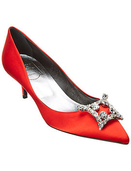 Roger Vivier Embellished Satin Pump by Roger Vivier