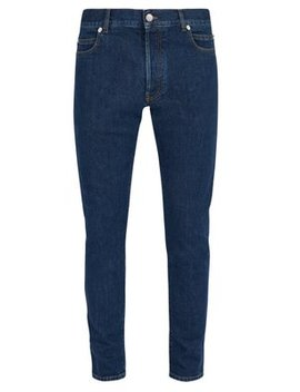 Logo Embossed Slim Leg Jeans by Balmain