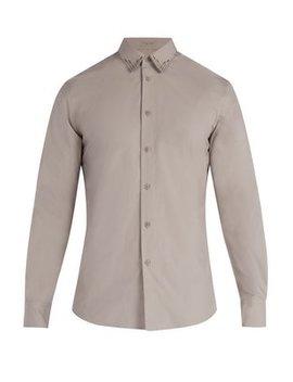 Stitched Detail Cotton Shirt by Bottega Veneta