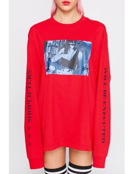 Shoplifters Long Sleeve Tee by Goodbye Bread