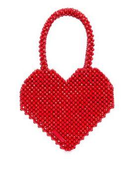 Maria Beaded Heart Tote by Loeffler Randall