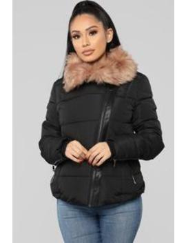 Gisele Puffer Jacket   Black by Fashion Nova