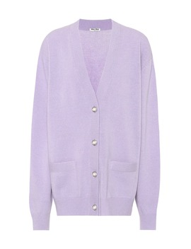 Wool Cardigan by Miu Miu