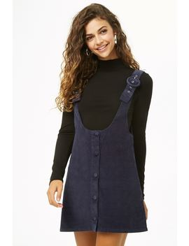 Corduroy Pinafore Dress by Forever 21