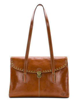 Cantabria Smooth Leather Flap Satchel by Patricia Nash