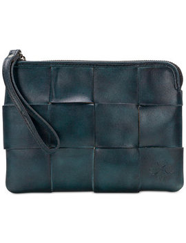 Cassini Woven Leather Wristlet, Created For Macy's by Patricia Nash