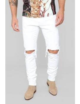 Quentin Skinny Jeans   White by Fashion Nova