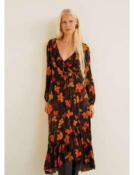 Φόρεμα μακρύ με λουλούδια by Mango