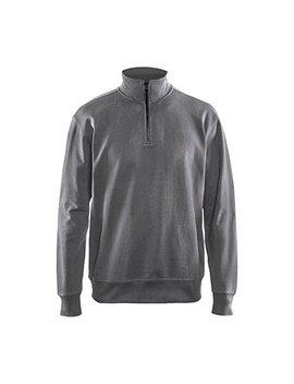 Sweatshirt Mit Half Zip Grau M by Amazon