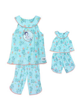 Disney Animators' Collection Moana Matching Pajama Set For Kids And Doll by Disney