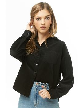 Corduroy Button Down Shirt by Forever 21