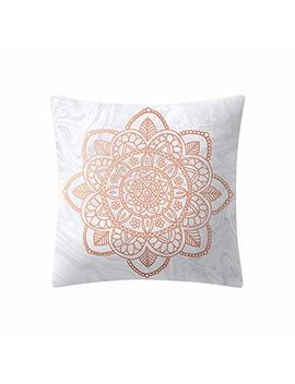 Rose Gold Pink Pillow Case Lilicat Printed 45 * 45cm Square Cushion Cover Decoration Birthday Gift Throw Pillowcase Sofa Bedroom Car Cafe by Lilicat Home