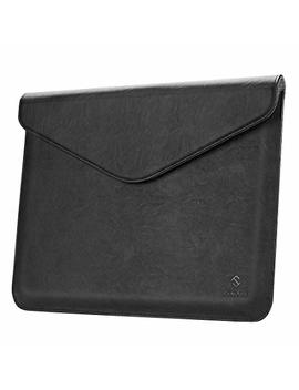 Fintie Sleeve Case With Apple Pencil Holder For I Pad Pro 12.9 2018   Slim Fit Vegan Leather Protective Cover Carrying Case Bag Pouch For I Pad Pro 12.9 Inch (3rd Generation 2018), Black by Fintie