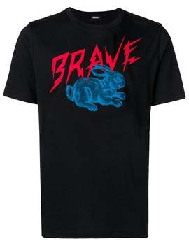 Brave Bunny Graphic T Shirt by Diesel