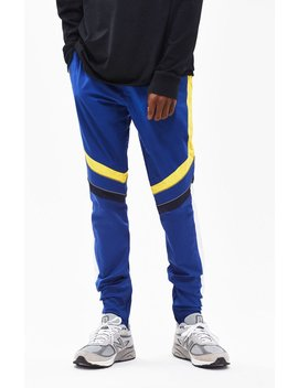 Pac Sun Drop Skinny Motocross Blue & Yellow Pants by Pacsun