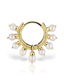 18 Gauge Pearl Coronet Ring by Maria Tash