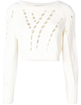 Cropped Knit Jumper by T By Alexander Wang