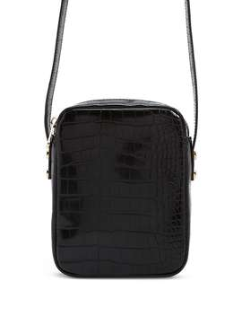 Faux Croc Leather Crossbody Bag by Forever 21