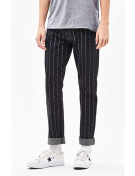 Pac Sun Stripe Black Slim Fit Jeans by Pacsun