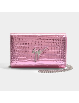 Elettra Small Bag In Pink Elettra Leather by Giuseppe Zanotti