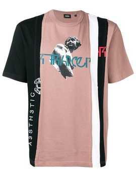 Deconstructed Colour Block T Shirt by Diesel