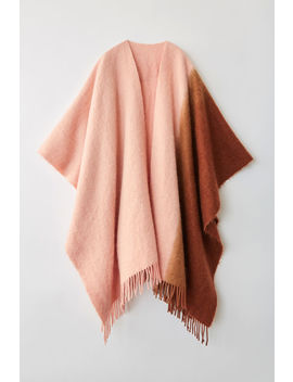 Two Tone Poncho  Brown/Pink by Acne Studios
