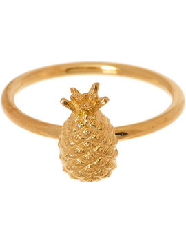 22ct Gold Plated Pineapple Ring by Rachel Jackson