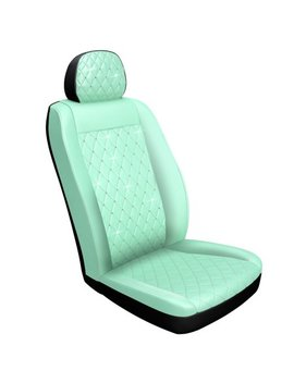 Premium Mint Diamond Stitch Seat Cover With Crystals From Swarovski by Pilot Automotive