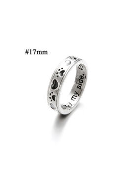 Alloy Men's Fashion Silver Ring Women Finger Rings Dog Cat Paw Footprint Gifts by Unbranded