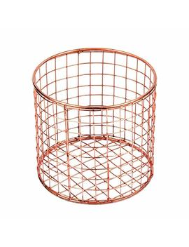 Storeindya Thanksgiving Gifts Wire Basket For Storage Pantry Square Organizer Wire Mesh Baskets Large Organizing Flower Girl Basket Stackable Bins (Copper Cube Collection) by Storeindya