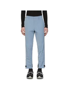 Blue Techno Trousers by Prada
