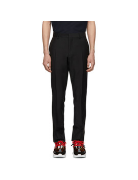 Black Mohair Marylebone Trousers by Burberry