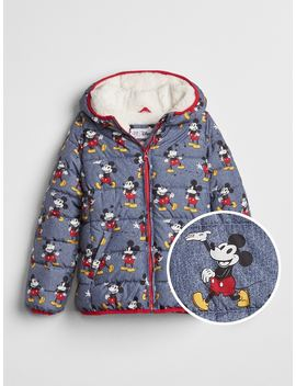 Gap Kids | Disney Mickey Mouse Sherpa Puffer Jacket by Gap