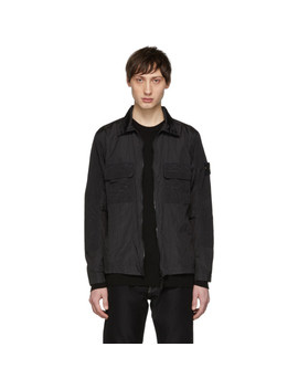Black Overshirt Jacket by Stone Island