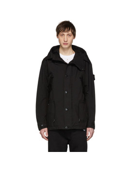 Black David Tc Coat by Stone Island