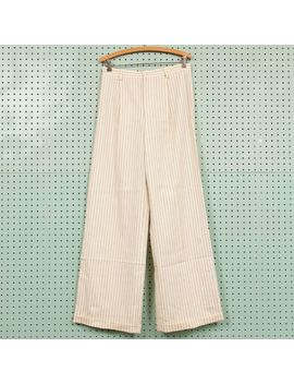 Vintage 80s Womens Polo Ralph Lauren Pinstripe Trouser Pants Wool Size 10 30x31 by Ralph Lauren