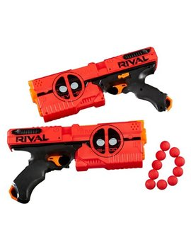 Rival Deadpool Kronos Xviii 500 Blasters (2 Pack)   Red And Black by Hasbro