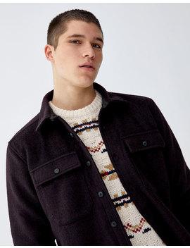 Jachetă Overshirt Din Stofă Uni by Pull & Bear