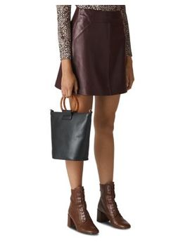 Leather Mini Skirt by Whistles