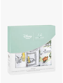Aden + Anais Disney Winnie The Pooh Muslin Musy Cloths, Pack Of 3 by Aden + Anais