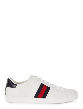 New Ace Off White Leather Trainers by Gucci