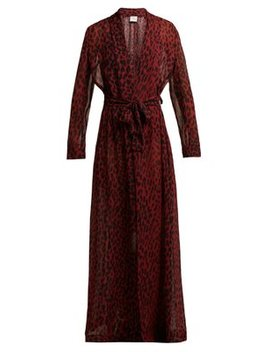 Marigot Leopard Silk Crepe Robe by On The Island