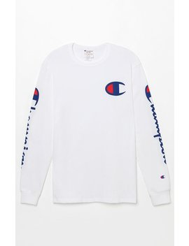 Champion Applique C Long Sleeve T Shirt by Pacsun